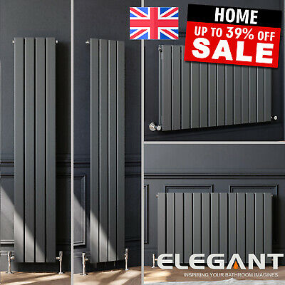 ANTHRACITE HORIZONTAL VERTICAL RADIATORS Designer Central Flat Panel Column