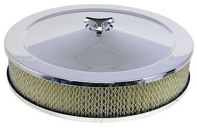 SAAS 14inch X 3inch Chrome Air Cleaner Suits Holley and 5 1/8 neck Carbies