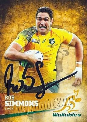 ✺Signed✺ 2016 WALLABIES Card ROB SIMMONS
