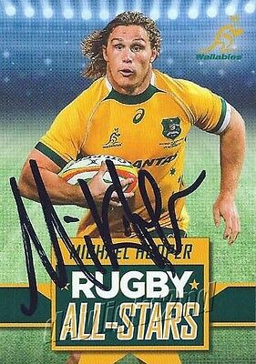 ✺Signed✺ 2016 WALLABIES Card MICHAEL HOOPER Rugby All-Stars