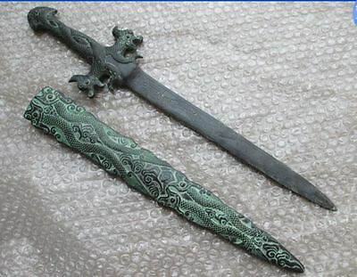 50 cm * / ancient Chinese bronze sword collection ssangyong's statue