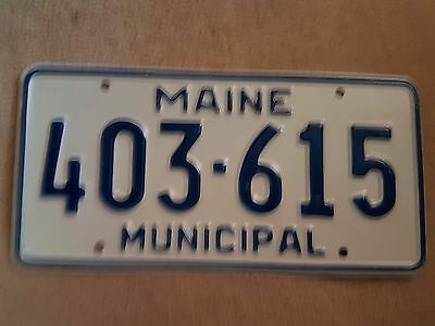 Plaque d immatriculation Maine 403-615 USA US License Plate