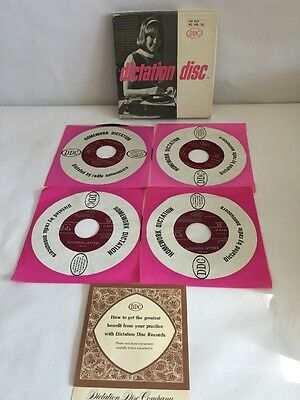 Dictation Disc DDC Shorthand Speed Development 45RPM RECORDS  420