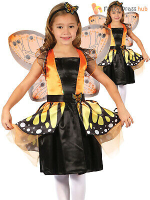 Childrens Butterfly Fairy Costume Girls Animal Insect Book Week Day Fancy Dress