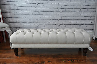 New Deep Buttoned Bed End Footstool Table Pouffe Window Seat  CHESTERFIELD STYLE