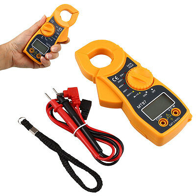 Digital Multimeter LCD Clamp AC DC Voltage Volt Amp Ohm Electronic Tester