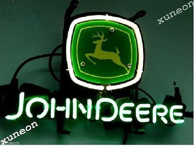 New JOHN DEERE Neon Sign Beer Bar Pub Light Home Collection Fast Free Shipping