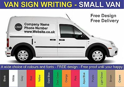 Small Van - Vehicle Sign Writing Vinyl Lettering & Logo - Stickers - Decals