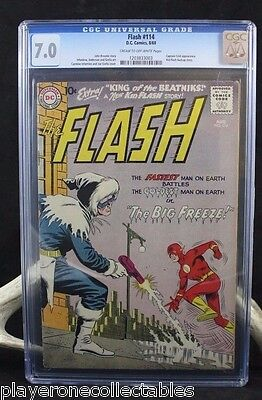 The Flash #114 (DC, 1960) CGC FN/VF 7.0 Cream to off-white pages.
