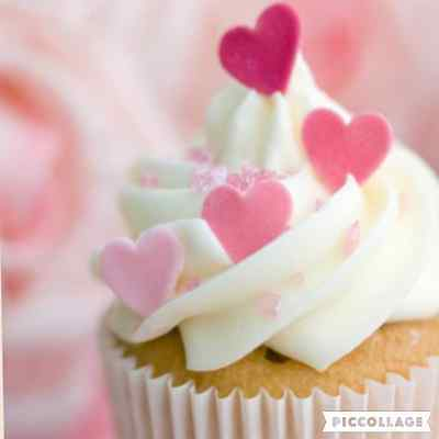 EDIBLE 100 rise wafer heart CAKE CUPCAKE TOPPERS 4 Birthday Wedding BABY SHAWER