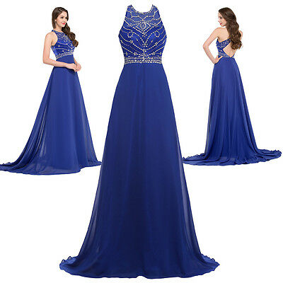 Formal Evening Dress Party Cocktail Wedding Maxi Bridesmaid Long Prom Ball Gown