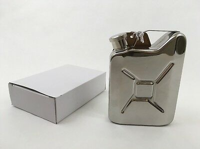 Flask Stainless Steel 5oz Jerry Can Mini Replica GI Gas Can Fuel DCI