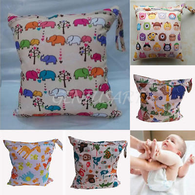 New Reusable Baby Infant Waterproof Zipper Diaper Nappy Wet Bag for Carriage