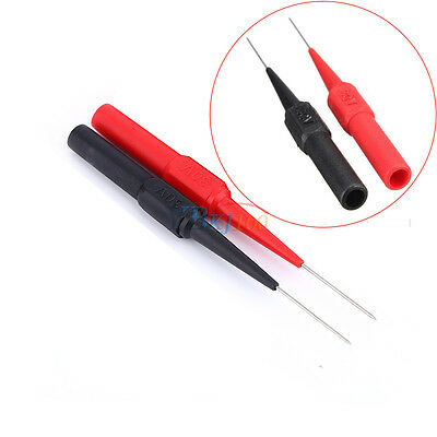 1 Pair Insulation Piercing Needle Test Probes Red/Black Sensitive and Accurate