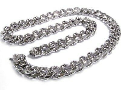 """Stainless Steel Heavy Curb Chain Men Necklace 15mm 23.5"""". Free Delivery"""