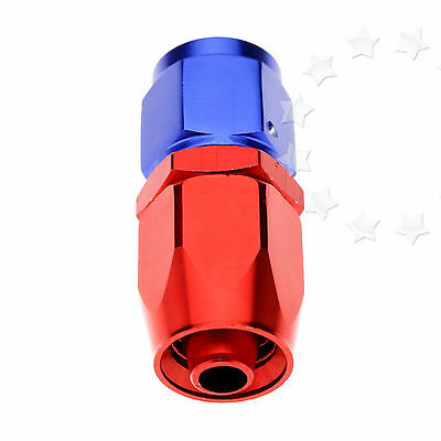 AN6 0° Flow Fuel Oil Hose Fitting Straight Fast Swivel Seal New