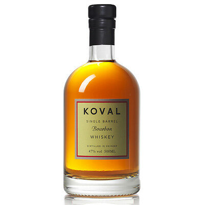 Koval Single Barrel Bourbon Whisky 500ml