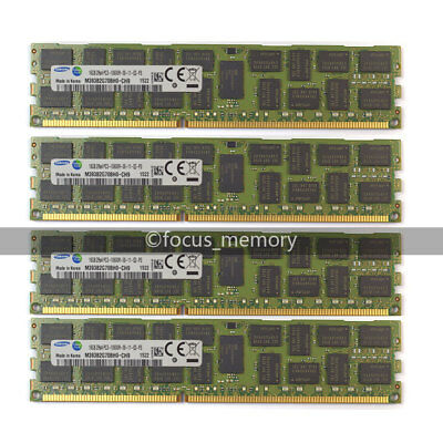 SAMSUNG 64GB (4X16GB)  DDR3 2RX4 PC3-10600R  1333MHz ECC REG Registered memory