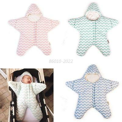 Baby Toddler Newborn Blanket Swaddle Cotton Sleeping Bag Sleepsack Stroller Wrap