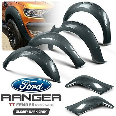 New 6 Pcs Complete Set FORD Ranger T7 PX MK2 Wheel Arch Fender Flare ABS Plastic