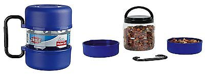 Plastic Dog Travel Set with 2L Food Compartment & 2 Bowls of 0.75L Each