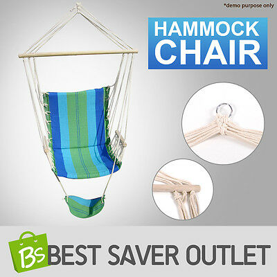 Comfort Camping Outdoor Garden Home Swinging Hanging Hammock Chair With Footrest