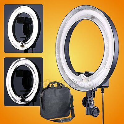Studio 400W 5500K 34cm Dimmable Photo Video Fluorescent Circular Ring Light Lamp