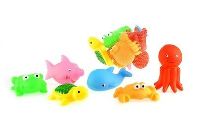 6PC Bath Sea Squirts Water Bath Squirters BathTime Fun Floating Animals Pumping