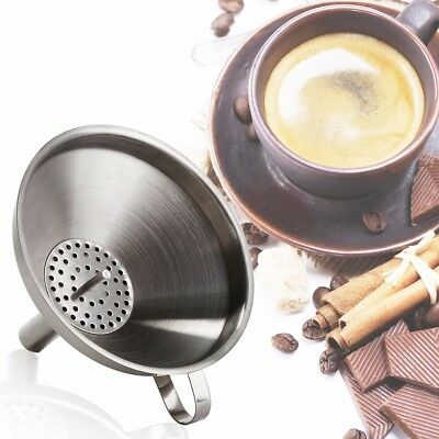 Kitchen Tool Edelstahl Flaschentrichter Wine Oil Coffee Filter Funnel Trichter