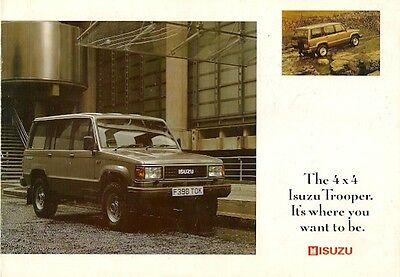 Isuzu Trooper 1989-91 UK Market Sales Brochure Standard Duty Citation