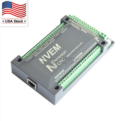 6 Axis 200Khz CNC Ethernet Controller Card Breakout Interface Mach3 Board US