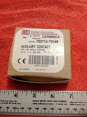 Cutler Hammer Auxiliary Contact C320MSC3