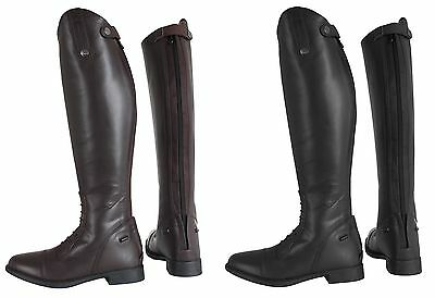 Horka Long Horse Riding Showing/Competition LACED Boots STANDARD-EXTRA WIDE CALF