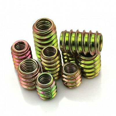 M6 M8 Furniture Unhead Nut In/Out Threaded For Wood Insert Grade 4.8