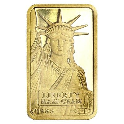 5 gram Credit Suisse Statue of Liberty Gold Bar .9999 Fine (Sealed w/Assay)