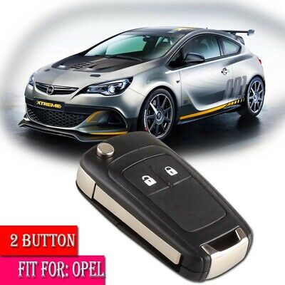 Car 2 Button Flip Remote Key Fob Case Shell Fit for Opel Vauxhall Astra Insignia
