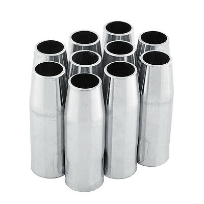 10 PCS MB-15AK MIG/MAG Welding Torch Gas Nozzle Shield Cup binzel type
