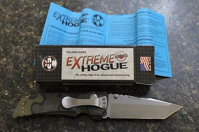 "NEW Hogue 34148 EX-01 Extreme Series 4"" Tanto Folding Knife Green G10 Scales"
