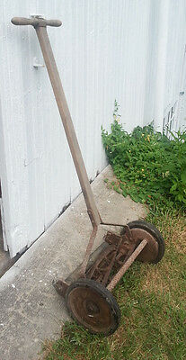 VINTAGE ANTIQUE Rotary Reel Push Lawn Grass Mower Grass groomer Ball beering