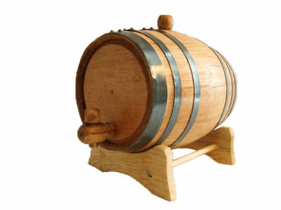 OAK barrels 2 liter for aging whiskey spirits -  with free engraving