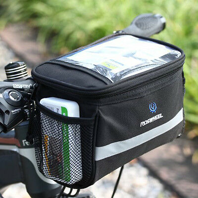 Bicycle Handlebar Bag Bike Cycle Reflective Front Pannier Waterproof Outdoor UK