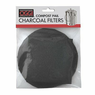Oggi Replacement Charcoal Filter Set Compost Pail Fit Models 7320 5427 5448 7700