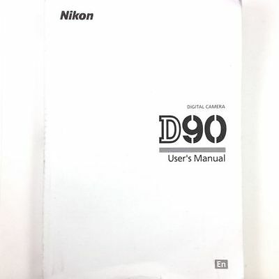 Nikon D90 Digital Camera User's Manual / Book, English #39098