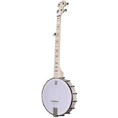 New Deering Goodtime 5-String Openback Banjo, Natural Blonde Maple - Made in USA