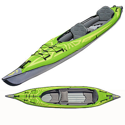 New Advanced Elements Convertible Inflatable Tandem Kayak in Green AE1007G