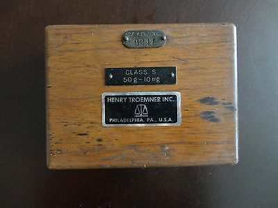 Vintage Scale Weight Set in Box Henry Troemner Inc.
