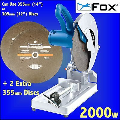 FOX F20-140A 355mm 14 Metal Cut Off Saw + 3 Abrasive Discs chop mitre steel bar