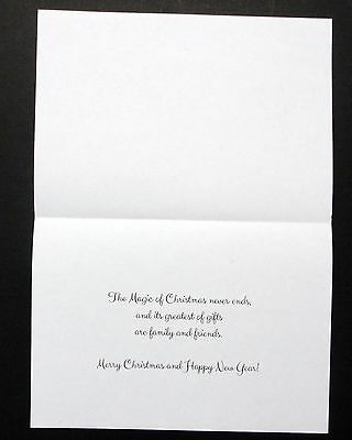 Card Inserts with Printed Christmas Greeting for A6 Craft cards(Landscape) Pk 20
