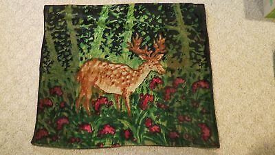 Antique Horse Hair Carriage Buggy Sleigh Throw Blanket with Deer Scene by Chase
