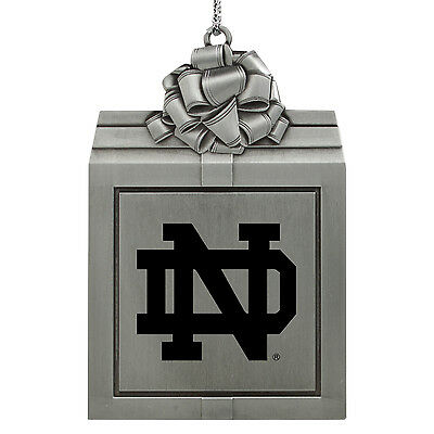 University of Notre Dame-Pewter Christmas Holiday Ornament-Silver